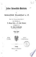 Aeltere universitäts Matrikeln: 1506-1648