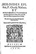 download ebook heroides epistolae, p. ovidii nasonis. et auli sabini responsiones0 pdf epub