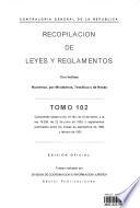 Recopilacion de Leyes Y Reglamentos