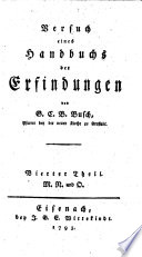 Versuch eines Handbuchs der Erfindungen  Neue Aufl