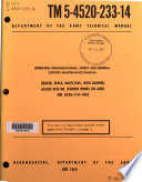 Operator, Organizational, Direct and General Support Maintenance Manual