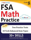 FSA Test Prep  8th Grade Math Practice Workbook and Full length Online Assessments