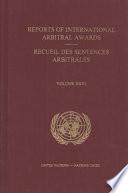 Reports Of International Arbitral Awards