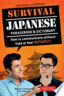 Survival Japanese Language Survival Japanese Contains Basic Vocabulary