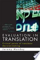 Evaluation in Translation