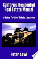 California Residential Real Estate Manual