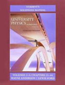 Student s Solution Manual for University Physics with Modern Physics Volumes 2 And 3  Chs  21 44