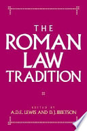 The Roman Law Tradition
