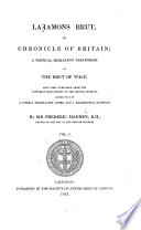Brut  or chronicle of Britain
