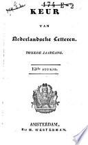 Keur van Nederlandsche letteren