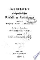 Formularien civilgerichtlicher Protokolle und Ausfertigungen