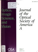Journal Of The Optical Society Of America : ...
