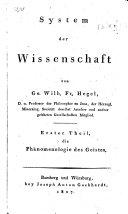 Die Phänomenologie des Geistes
