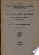 Plautus Menaechmi