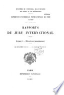 Minist  re du commerce  de l industrie  des postes et des t  l  graphes  Exposition universelle internationale de 1900     Paris  Rapports du jury international
