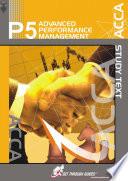 P5 Advanced Performance Management Intl    Study Text