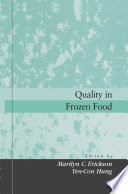 Quality In Frozen Food book