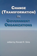 Change  Transformation  in Public Sector Organizations
