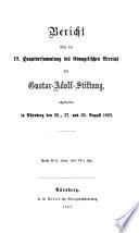 Bericht über die ... Hauptversammlung des Evangelischen Vereins der Gustav-Adolf-Stiftung