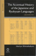 The Accentual History of the Japanese and Ryukyuan Languages Japanese And The Ryukyuan Languages Applying
