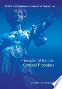 Principles of German Criminal Procedure
