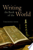 Ebook Writing the Book of the World Epub Theodore Sider Apps Read Mobile