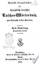 Deutsch franz  sisches und Franz  sisch deutsches Taschen W  rterbuch
