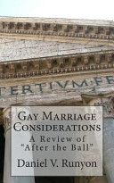 Gay Marriage Considerations
