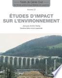 Etudes d impact sur l environnement