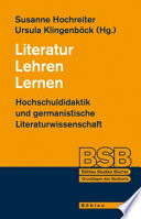 Literatur, Lehren, Lernen