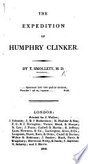 The expedition of Humphry Clinker  By the author of Roderic Random