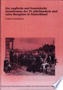 Der englische und französische Sozialroman des 19. Jahrhunderts und seine Rezeption in Deutschland