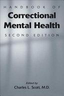 download ebook handbook of correctional mental health pdf epub