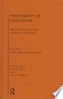 Philosophy of Education  Philosophy and education