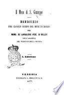Il mese di s  Giuseppe esercizio per ciascun giorno del mese di marzo per mons  de Langalerie