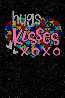 Hugs Kisses Xoxo Autism Awareness Puzzle Lined Notebook And Journal Composition Book Diary Gift
