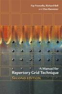 A Manual For Repertory Grid Technique