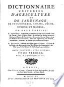 Dictionnaire universel d agriculture et de jardinage  de fauconnerie  chasse  peche etc