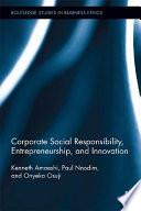 Corporate Social Responsibility  Entrepreneurship  and Innovation