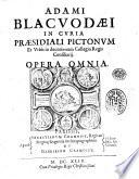 Adami Blacuodaei     Opera omnia