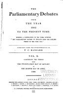 download ebook the parliamentary debates from the year 1803 to the present time pdf epub
