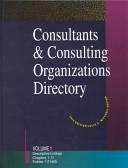 Consultants And Consulting Organizations Directory book