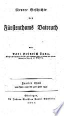 Neuere Geschichte des Fürstenthums Baireuth
