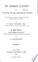 The German Classics From The Fourth To The Nineteenth Century With Biographical Notices Translations Into Modern German Notes By F Max M Ller