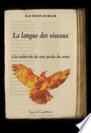illustration La langue des oiseaux