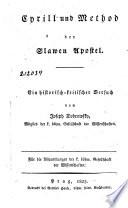 Cyrill und Method der Slawen Apostel