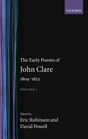 The Early Poems of John Clare, 1804-1822