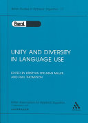 Unity and Diversity in Language Use