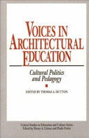 Voices in architectural education