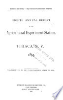 Annual Report of the Agricultural Experiment Station